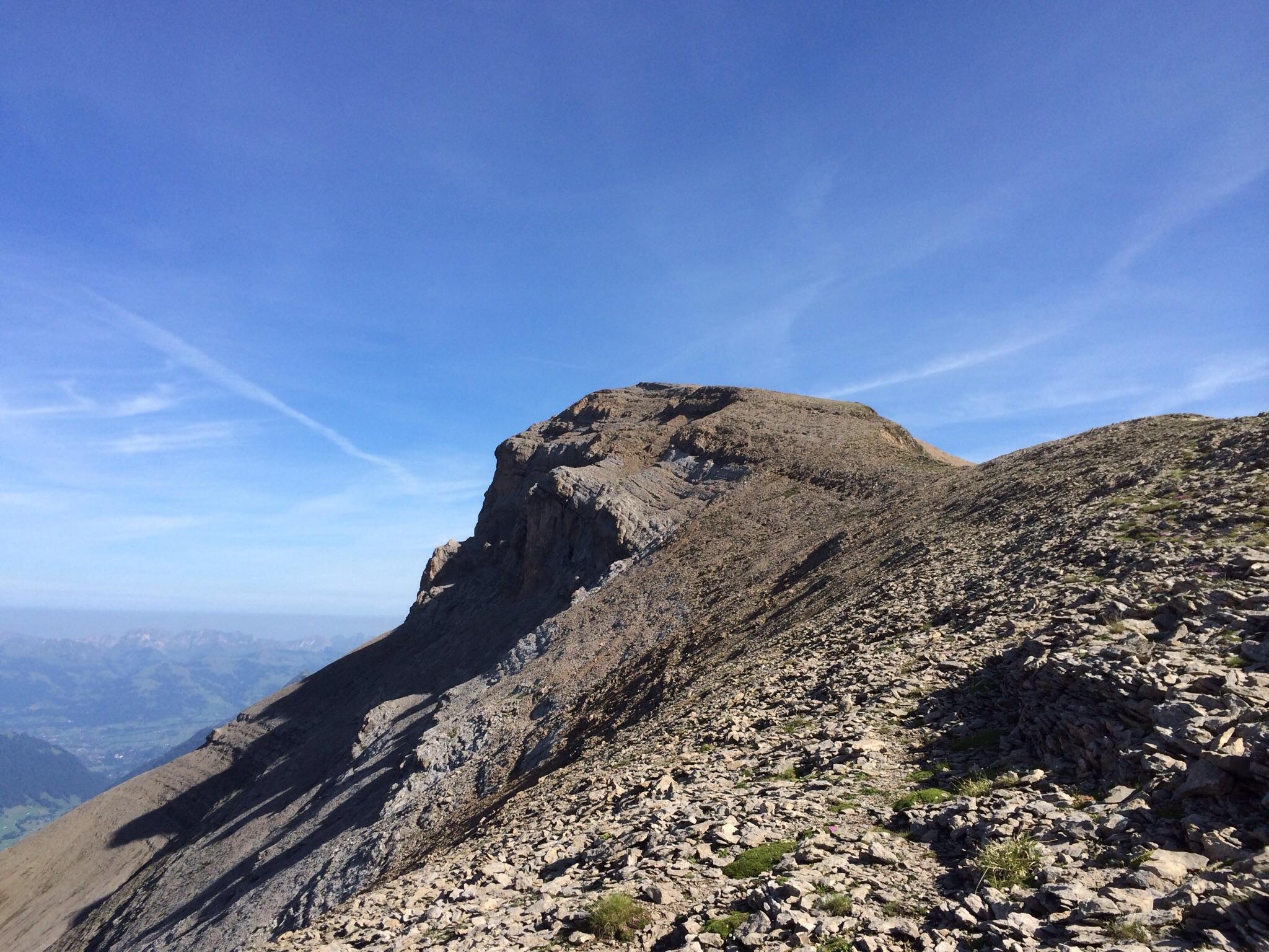 Die letzten Meter zum Gipfelplateau des Niesehorns